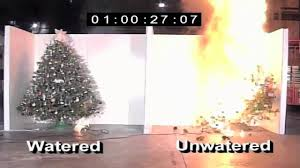 christmas tree fire video it just takes a minute youtube