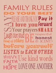 Family House Rules by Rule Chart Template House Rules For Kids Chart House Rules For