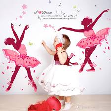 Dance Ballet Girls Wall Stickers For Kids Rooms Sofa Television D - Cheap wall decals for kids rooms