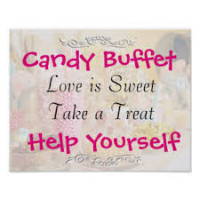 Baby Shower Candy Buffet Sign by Candy Buffet Sign Gifts On Zazzle