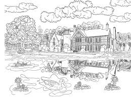 scenery colouring beautiful scenery colouring pages colouring