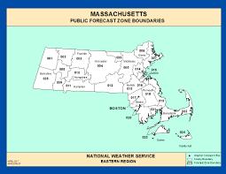 Massachusetts Maps Maps Massachusetts Zone Forecast Boundaries