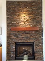 home design handmade cherry modern beam fireplace mantel custom