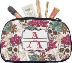 amazon com sugar skulls u0026 flowers makeup bag medium