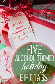 alcohol themed holiday gift tags the rustic willow
