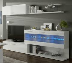 alessia led lights tv unit living room furniture set media full