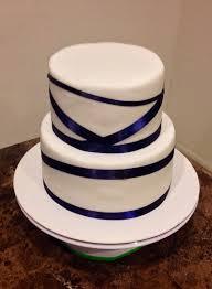wedding cake royal blue royal blue ribbon wedding cake lovebug s edible designs