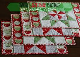 in august pinwheel table runner placemats and