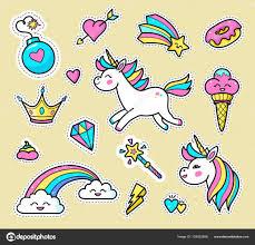 imagenes de unicornios en caricatura conjunto de vector de divisa unicornio vector de stock cheremuha