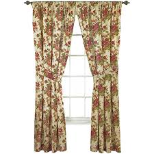 Waverly Curtain Panels Waverly皰 Norfolk 2 Pack Floral Curtain Panels Jcpenney