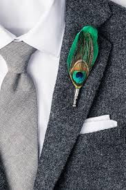 green feathers peacock feather lapel pin ties