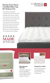 Feather Mattress Topper Review U0026 Amazon Com Bamboo From Rayon Overfilled Pillow Top Rv Mattress
