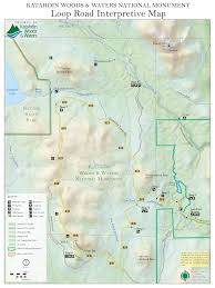 map new new map shows features of katahdin woods and waters loop road