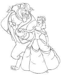 beauty beast coloring pages redcabworcester