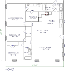 3 bed 2 bath house plans floor plans barndominiums