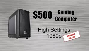 Awesome Pc Gaming Setup Jun 2013 Youtube by Best Gaming Pc Under 500 Console Killer December 2017