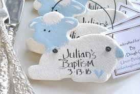 personalized baptism favors pink or blue salt dough ornaments