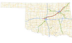 Route 66 Map by Oklahoma State Highway 66 Wikipedia