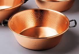 ustensile de cuisine en cuivre bassine à confiture en cuivre martelée ø 38 cm baumalu bassine à