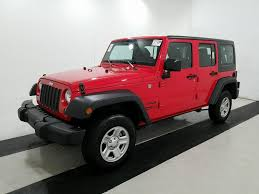 red jeep wrangler unlimited 2016 jeep wrangler unlimited sport 4wd