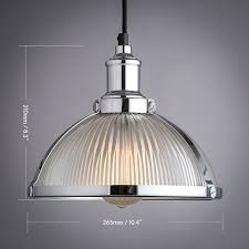 Ebay Ceiling Light Fixtures by Industrial Prismatic Ribbed Glass Round Dome Pendant Light U0026 One