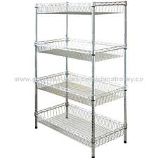 Metal Wire Shelving by Wire Basket Shelves Hanging Wire Basket Organizers With Four Bird