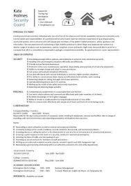 sample resume for security guard template billybullock us