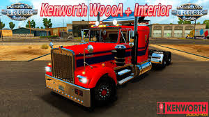 w900a kenworth trucks for sale kenworth w900a interior v1 0 for ats zagruzka mods com