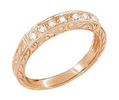 pink wedding rings antique gold wedding rings vintage pink gold wedding bands
