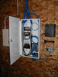 Fiber Optic Home Network Design Whole House Structured Wiring Networking Set Ups Cabinets