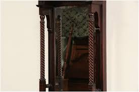 black mirror with shelf victorian carved 1880 antique beveled hall