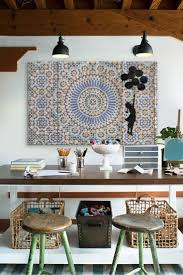 bohemian interior home office workspace design