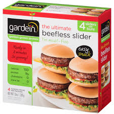 Walmart Furniture Moving Sliders by Gardein The Ultimate Beefless Slider 4 Ct Box Walmart Com