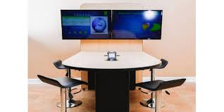 Counter Height Conference Table Fsr Hvtb Tbl Ch 4 User Huddle Room Counter Height Table W