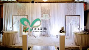 wedding backdrop on stage curtain stage backdrop partition decorate the house with