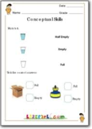 capacity estimation worksheets for grade 1 measurement for grade