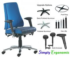 Desk Chair Accessories Bma Axia Plus High Back With Arms Chrome Accessories Ergonomic