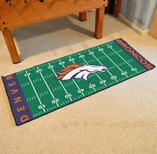 Area Rug Mat Denver Broncos Football Field Runner Area Rug Mat By Fanmats 30