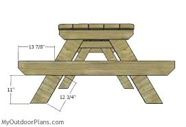 stunning 8 ft wood picnic table this picnic table is perfect for a