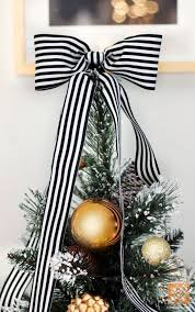 White Bows For Tree Top 40 Black And Gold Decoration Ideas Gold