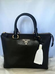 prada pvc handbags bags for ebay prada black cervo shine 2 way satchel crossbody bag 1ba063 ebay