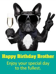 glitzy happy birthday card for brother birthday u0026 greeting cards