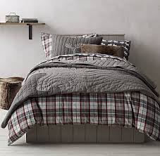 lodge plaid moose flannel bedding collection this would be