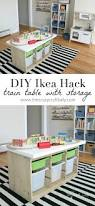 Diy Craft Desk With Storage by An Ikea Hack Train U0026 Activity Table Easy Diy Projects Ikea Hack