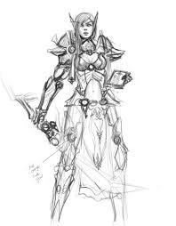 blood elf paladin roughsketch by zeronis on deviantart