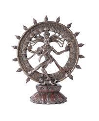 Home Decor Statues Shiva Nataraja Lord Of Dancers Hindu Bronze Resin Statue 16 Inch