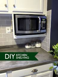 kitchen cabinet with microwave shelf major diy s in the kitchen part 3 additional shelving kitchens