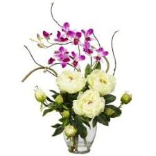 orchid flower arrangements silk 21 5 inch peony orchid flower arrangement free shipping