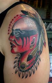 cherokee indian warrior tattoo on shoulder tattoos book 65 000