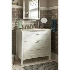 36 X 22 Bathroom Vanity Shop Allen Roth Norbury 36 In X 22 In White With Weathered Edges